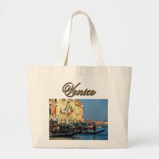 Gondoleros venecianos bolsa tela grande