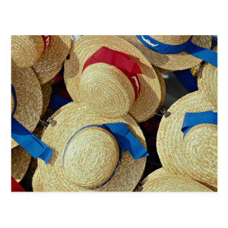 Gondolier hats, Venice, Italy Postcard