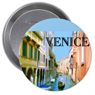 Gondolier in Canal in Venice Pin