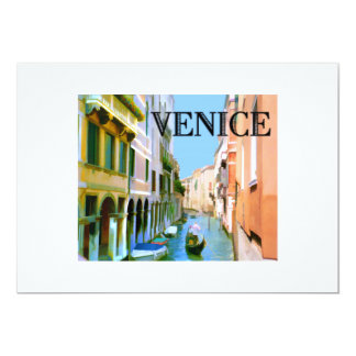 Gondolier in Canal in Venice Card