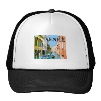 Gondolier in Canal in Venice Mesh Hat