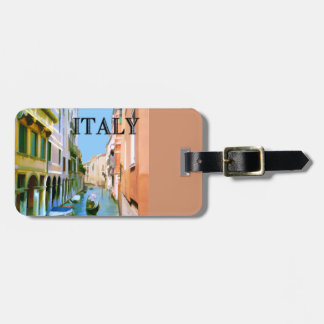 Gondolier in Canal in Venice ITALY Bag Tag