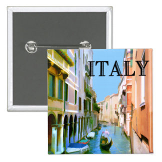 Gondolier in Canal in Venice ITALY Pins