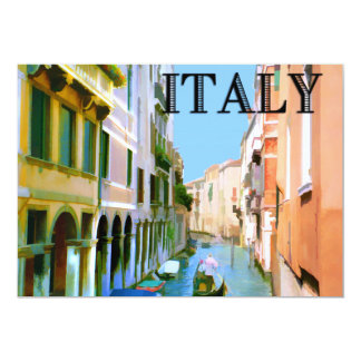 Gondolier in Canal in Venice ITALY Card