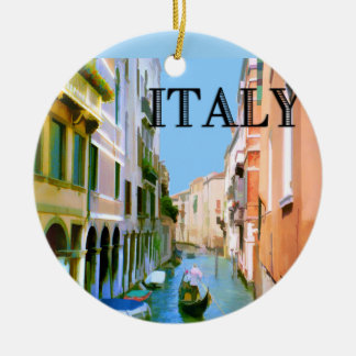 Gondolier in Canal in Venice ITALY Christmas Tree Ornaments