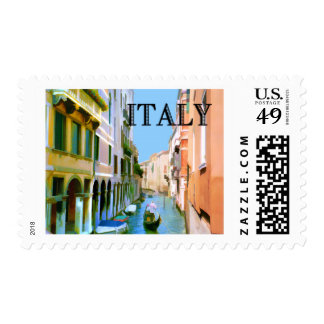 Gondolier in Canal in Venice ITALY Postage