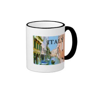 Gondolier in Canal in Venice ITALY Ringer Mug