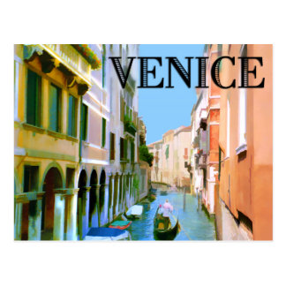 Gondolier in Canal in Venice Postcard