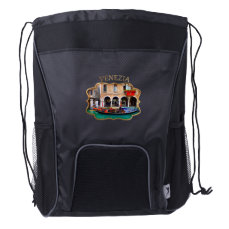 Gondolier in Cannaregio Drawstring Backpack