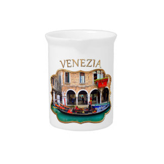 Gondolier in Cannaregio Drink Pitcher