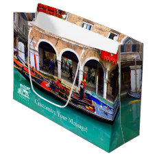 Gondolier in Cannaregio Large Gift Bag