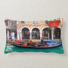 Gondolier in Cannaregio Lumbar Pillow