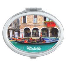 Gondolier in Cannaregio Makeup Mirror