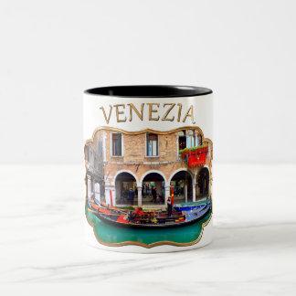 Gondolier in Cannaregio Two-Tone Coffee Mug
