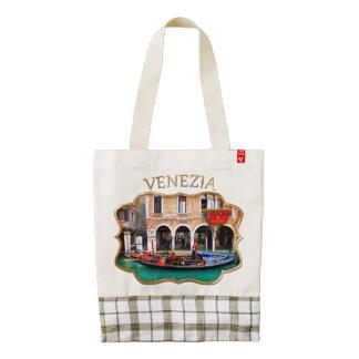Gondolier in Cannaregio Zazzle HEART Tote Bag