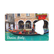Gondolier in the Cannaregio District Credit Card Bottle Opener