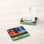 Gondolier Rowing on Grand Canal Drink Coaster