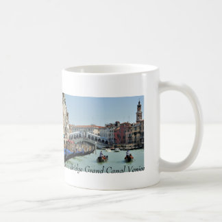 Gondoliers and Rialto Bridge Grand Canal Venice Coffee Mugs