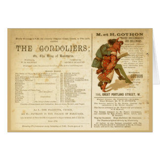 Gondoliers Cast Cards