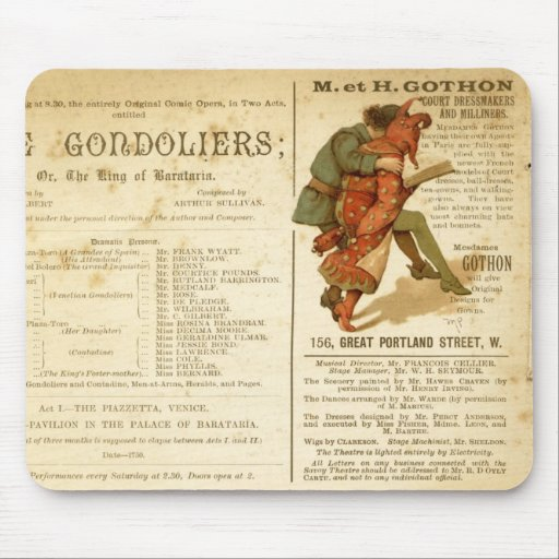 Gondoliers Cast Mouse Pad