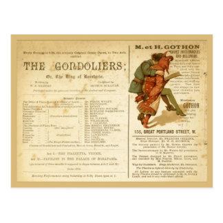 Gondoliers Cast Postcard