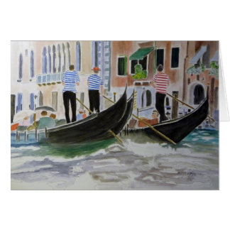 Gondoliers Italy Card