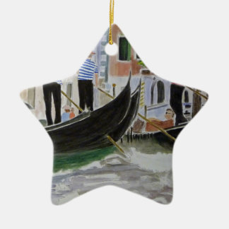 Gondoliers Italy Ornaments