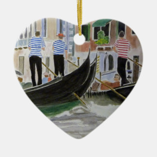 Gondoliers Italy Ornament