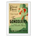 Gondoliers Opera 1937 WPA Card