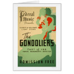 Gondoliers Opera 1937 WPA Greeting Cards