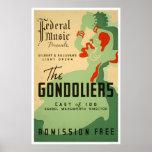 Gondoliers Opera 1937 WPA Poster