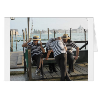 Gondoliers Resting Card