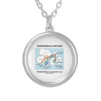 Gondwana's History Biogeography In Perspective Round Pendant Necklace