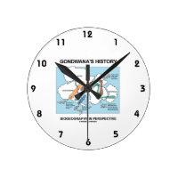 Gondwana's History Biogeography In Perspective Round Wall Clocks