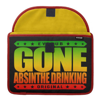 GONE ABSINTHE DRINKING - Love to Drink Green Fairy MacBook Pro Sleeve