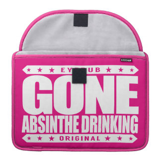 GONE ABSINTHE DRINKING - Love to Drink Green Fairy Sleeves For MacBook Pro