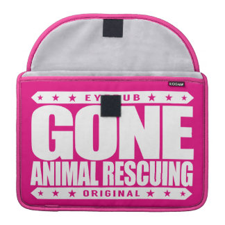 GONE ANIMAL RESCUING - I Love To Help All Animals MacBook Pro Sleeves
