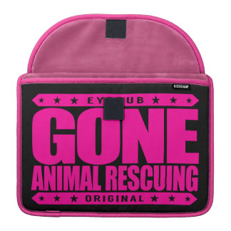 GONE ANIMAL RESCUING - I Love To Help All Animals Sleeve For MacBooks