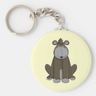 Gone Ape Basic Round Button Keychain