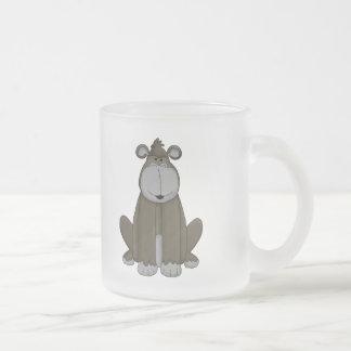 Gone Ape 10 Oz Frosted Glass Coffee Mug