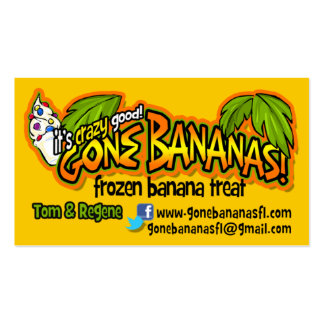 Gone Bananas Double-Sided Standard Business Cards (Pack Of 100)