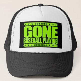 GONE BASEBALL PLAYING - I Always Get to Third Base Trucker Hat