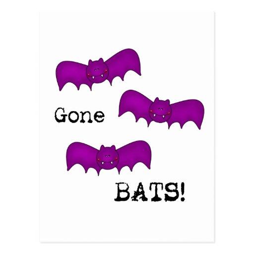 Gone Bats Postcard