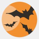 gone batty classic round sticker