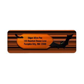 Gone Batty Halloween Custom Personalized Label
