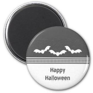 Gone Batty Halloween Magnet, Dark Gray 2 Inch Round Magnet