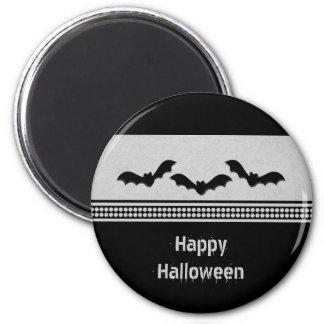 Gone Batty Halloween Magnet, Light Gray 2 Inch Round Magnet