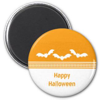 Gone Batty Halloween Magnet, Orange & White 2 Inch Round Magnet