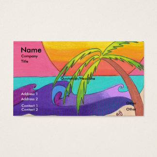 Gone Beachy Business Card Template