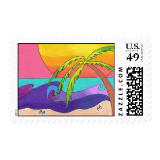 Gone Beachy Postage Stamp
